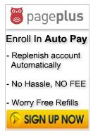 Page Plus Monthly Auto Bill Payment